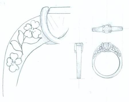 draw diamond ring customized