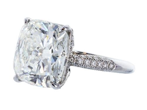 old miner cut diamond ring